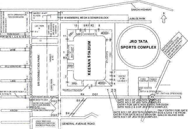Map of Keenan Stadium